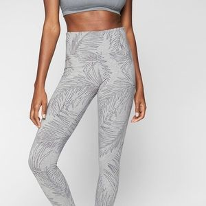 Athleta Gray Tropic Organic Cotton Crop Legging XS